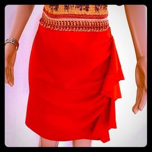 Vince Camino red shirt skirt